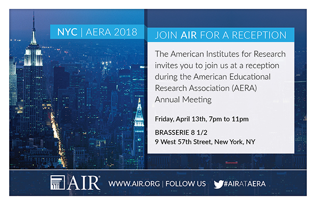 Image: AERA reception invite