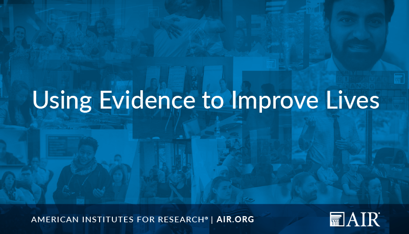 Image of video still for AIR: Using Evidence to Improve Lives