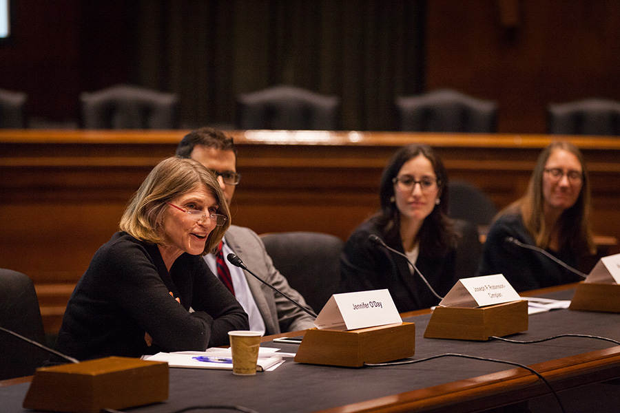 AIR's Jennifer O'Day speaks at a recent ESSA event on English Learners