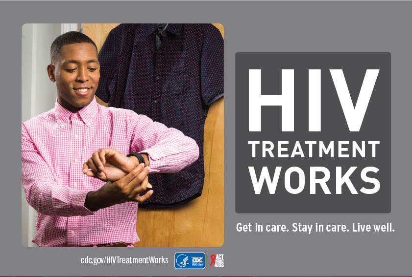 HIV Treatment Works communications ad
