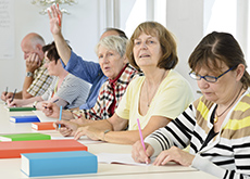 Older people in a classroom