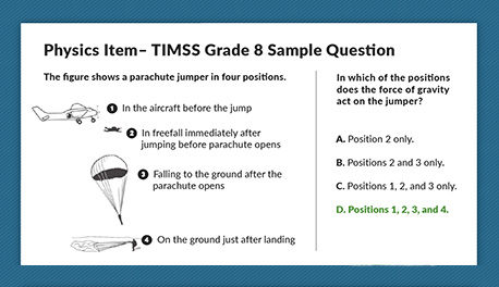 Image of TIMSS sample question