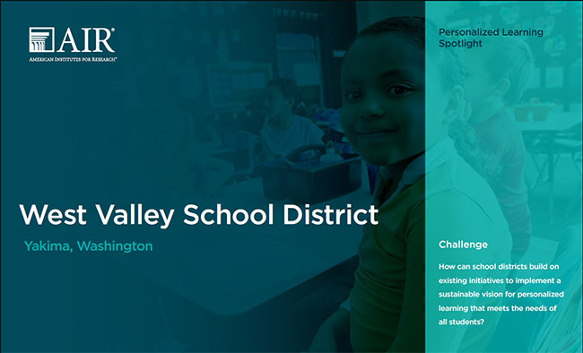 Image of West Valley School District case study cover