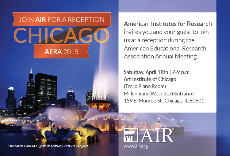 AERA reception invitation