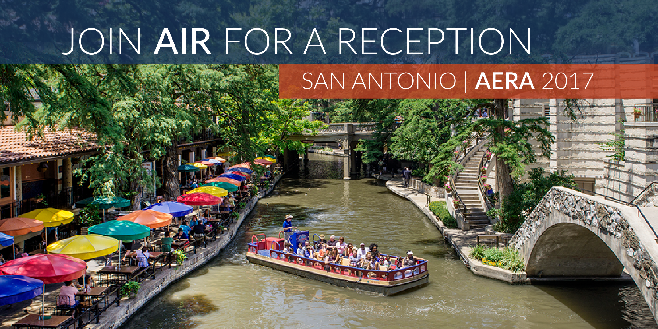 Join AIR for a reception during the annual AERA meeting