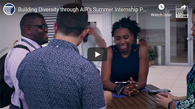 Image of video clip of AIR interns