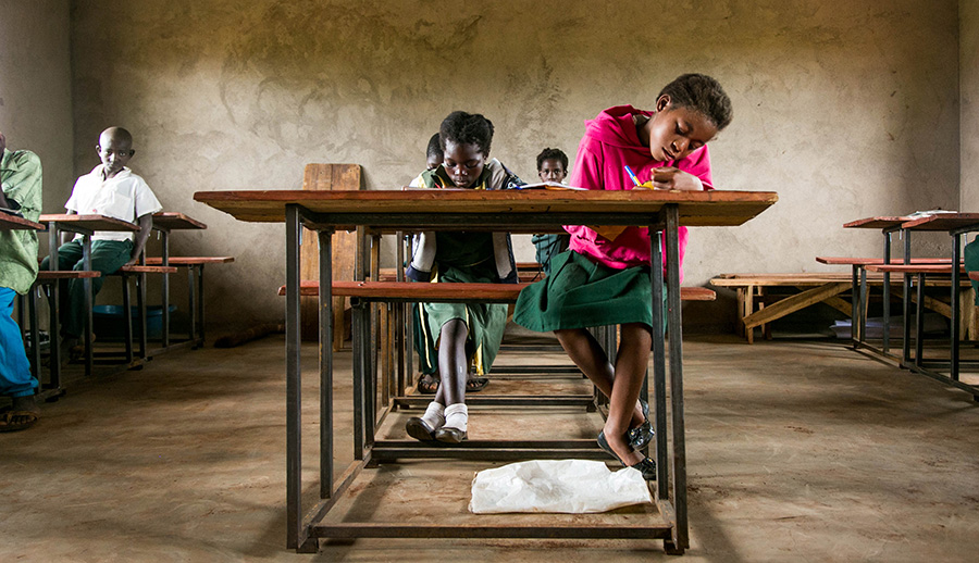 Image of students in Zambia
