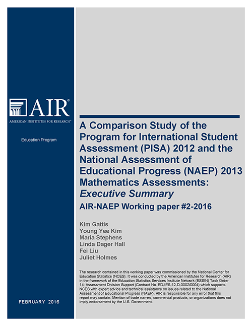 NAEP PISA Report cover