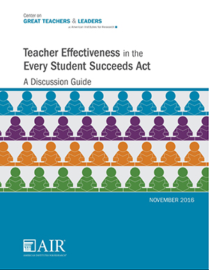 Image of Teacher Effectiveness in ESSA guide cover