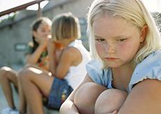 Girl being bullied