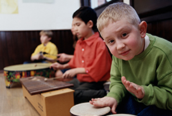 Boy with drums