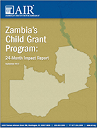 Zambia Child Grant report cover