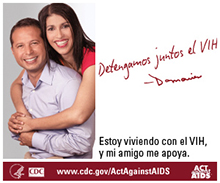 HIV Public Service Announcement image in Spanish