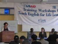 Teachers at a training workshop for TELL