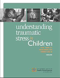 Report cover: Understanding Traumatic Stress in Children