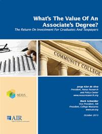 AIR - What's the Value of an Associate's Degree?