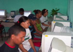 Photo of students at computers.