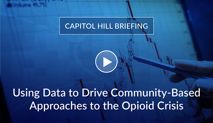 Image of video still from AIR opioid event video