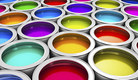 Image of multicolored paint cans