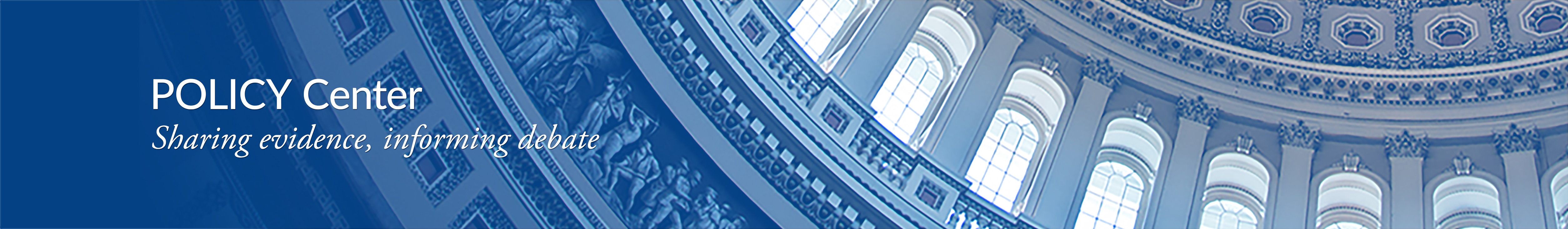 Policy Center header with image of capitol dome