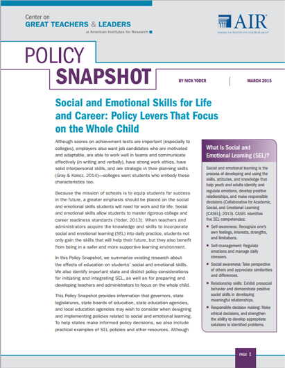 Image of policy brief cover
