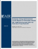 NAEP Analysis paper report cover