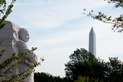 Image of Martin Luther King monument and Washington Monument
