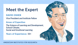 Illustration of David Osher and areas of expertise