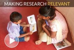 Child learning to read in India