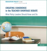 Teacher shortage report cover