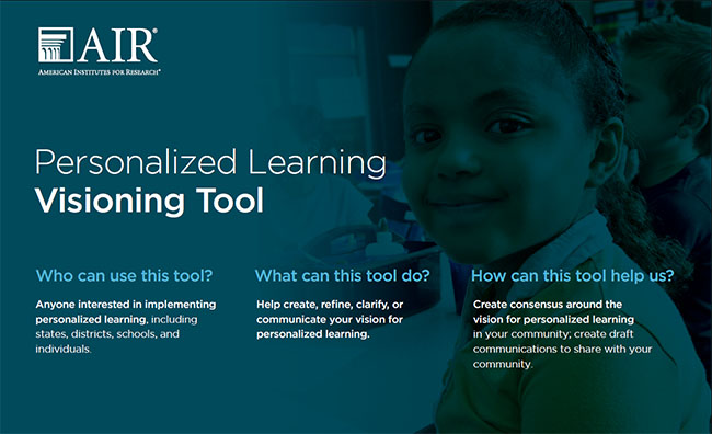 Image of personalized learning visioning tool cover