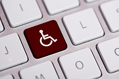 Wheelchair button on keyboard