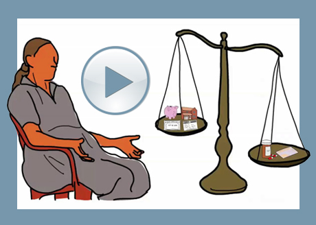 still image from whiteboard animation on senior's financial security